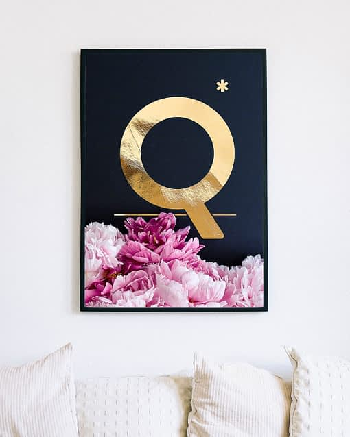 Namensposter Buchstabe Q