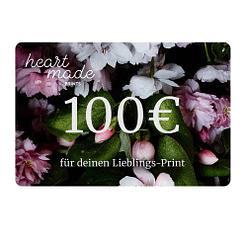 100,- Euro Geschenk-Gutschein HEARTMADE Prints Poster Shop