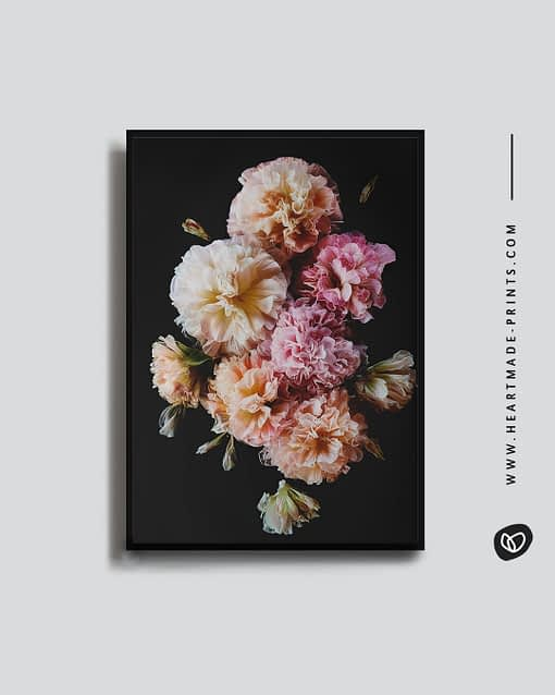 Wandbild rosa Blüten