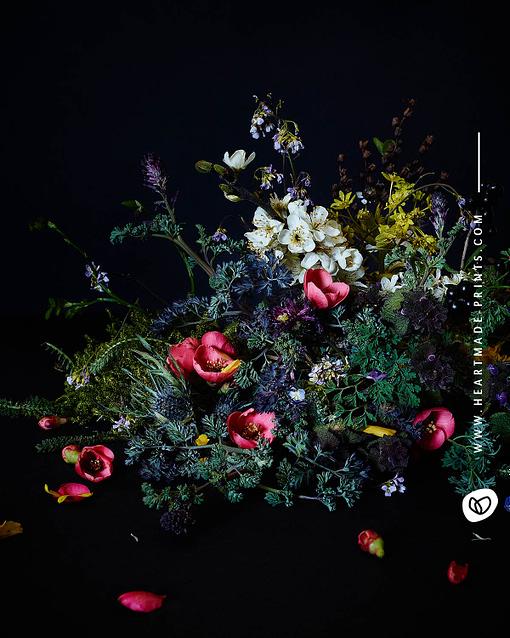 Blumenstrauß aus wunderschönen Wildblumen gedruckt als Poster oder Wandbild