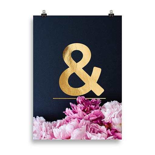 Wandbilder Buchstaben Ampersand &