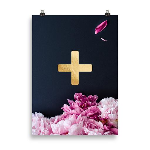 Wandbilder Buchstaben Plus für Paare