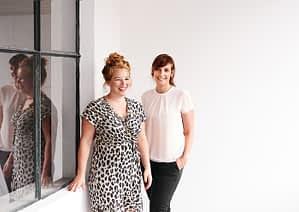 Teamfoto HEARTMADE Prints Salome Kleb und Anna Schneider