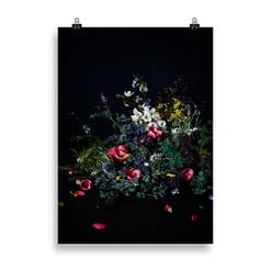 Poster mit Wildblumen